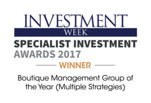 Investment Week Specialist - Investment Awards Winners. Boutique Management Group of the Year (Multiple Strategies)